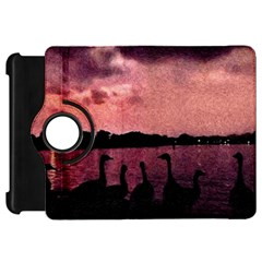 7 Geese At Sunset Kindle Fire Hd Flip 360 Case