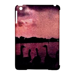 7 Geese At Sunset Apple Ipad Mini Hardshell Case (compatible With Smart Cover)