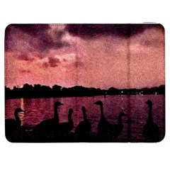 7 Geese At Sunset Samsung Galaxy Tab 7  P1000 Flip Case