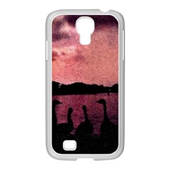7 Geese At Sunset Samsung GALAXY S4 I9500/ I9505 Case (White)
