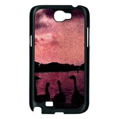 7 Geese At Sunset Samsung Galaxy Note 2 Case (Black)