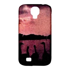 7 Geese At Sunset Samsung Galaxy S4 Classic Hardshell Case (pc+silicone)