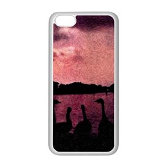 7 Geese At Sunset Apple Iphone 5c Seamless Case (white)