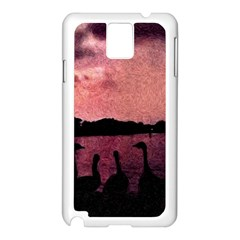 7 Geese At Sunset Samsung Galaxy Note 3 N9005 Case (white)