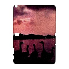 7 Geese At Sunset Samsung Galaxy Note 10 1 (p600) Hardshell Case