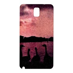 7 Geese At Sunset Samsung Galaxy Note 3 N9005 Hardshell Back Case