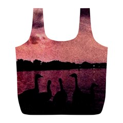 7 Geese At Sunset Reusable Bag (L)