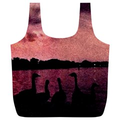 7 Geese At Sunset Reusable Bag (XL)