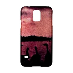 7 Geese At Sunset Samsung Galaxy S5 Hardshell Case