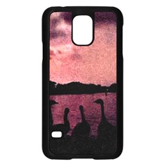 7 Geese At Sunset Samsung Galaxy S5 Case (black)