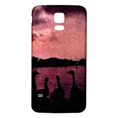 7 Geese At Sunset Samsung Galaxy S5 Back Case (White)