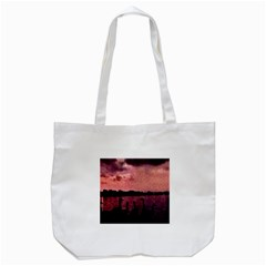 7 Geese At Sunset Tote Bag (White)