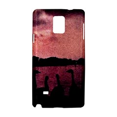 7 Geese At Sunset Samsung Galaxy Note 4 Hardshell Case