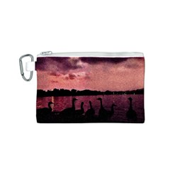 7 Geese At Sunset Canvas Cosmetic Bag (Small)