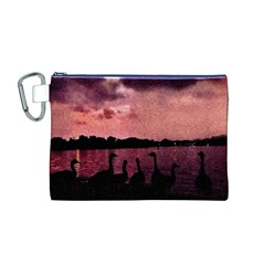 7 Geese At Sunset Canvas Cosmetic Bag (Medium)