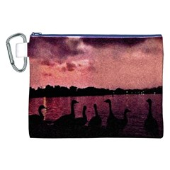 7 Geese At Sunset Canvas Cosmetic Bag (XXL)