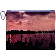 7 Geese At Sunset Canvas Cosmetic Bag (xxxl)
