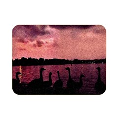 7 Geese At Sunset Double Sided Flano Blanket (Mini)