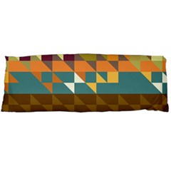 Shapes In Retro Colors Body Pillow (dakimakura) Case (two Sides)