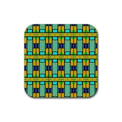 Different Shapes Pattern Rubber Square Coaster (4 Pack)