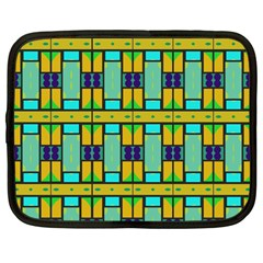 Different Shapes Pattern Netbook Case (large)