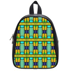Different Shapes Pattern School Bag (small)