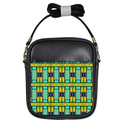 Different Shapes Pattern Girls Sling Bag