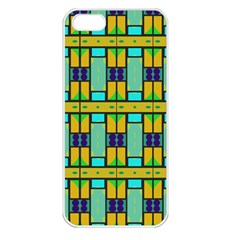 Different Shapes Pattern Apple Iphone 5 Seamless Case (white)