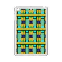 Different shapes pattern Apple iPad Mini 2 Case (White)