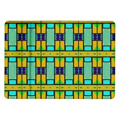 Different Shapes Pattern Samsung Galaxy Tab 10 1  P7500 Flip Case