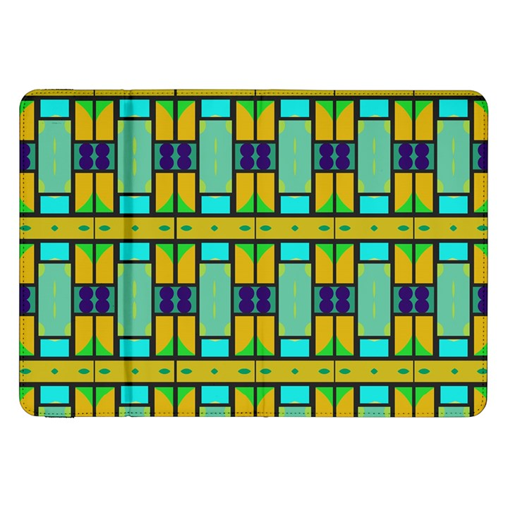 Different shapes pattern Samsung Galaxy Tab 8.9  P7300 Flip Case