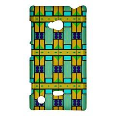 Different Shapes Pattern Nokia Lumia 720 Hardshell Case