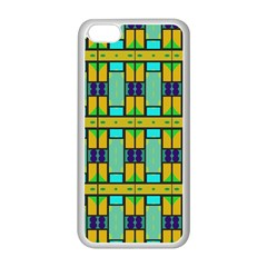 Different shapes pattern Apple iPhone 5C Seamless Case (White)