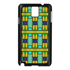 Different shapes pattern Samsung Galaxy Note 3 N9005 Case (Black)