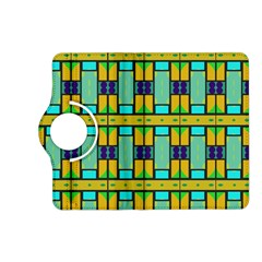 Different shapes pattern Kindle Fire HD (2013) Flip 360 Case