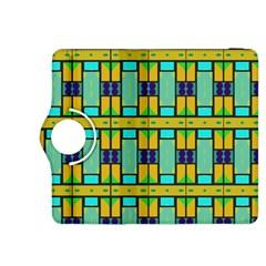 Different shapes pattern Kindle Fire HDX 8.9  Flip 360 Case