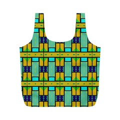 Different shapes pattern Full Print Recycle Bag (M)