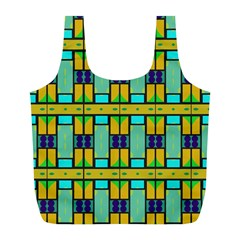 Different Shapes Pattern Full Print Recycle Bag (l)