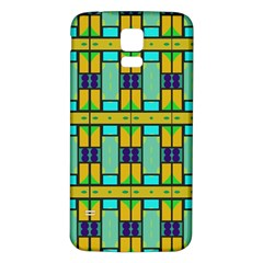 Different Shapes Pattern Samsung Galaxy S5 Back Case (white)