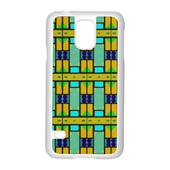 Different shapes pattern Samsung Galaxy S5 Case (White)