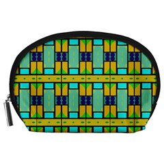 Different shapes pattern Accessory Pouch (Large)