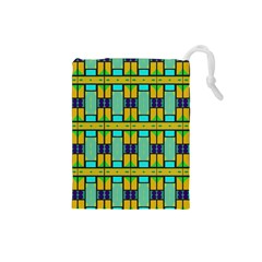 Different shapes pattern Drawstring Pouch (Small)