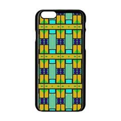 Different shapes pattern Apple iPhone 6 Black Enamel Case