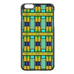 Different shapes pattern Apple iPhone 6 Plus Black Enamel Case