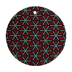 Cubes Pattern Abstract Design Ornament (round)