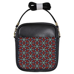 Cubes Pattern Abstract Design Girls Sling Bag
