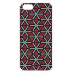 Cubes Pattern Abstract Design Apple Iphone 5 Seamless Case (white)