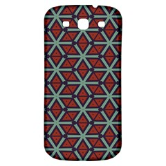 Cubes Pattern Abstract Design Samsung Galaxy S3 S Iii Classic Hardshell Back Case