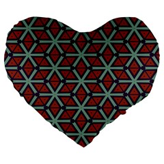 Cubes pattern abstract design 19  Premium Heart Shape Cushion