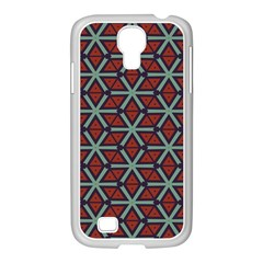 Cubes Pattern Abstract Design Samsung Galaxy S4 I9500/ I9505 Case (white)